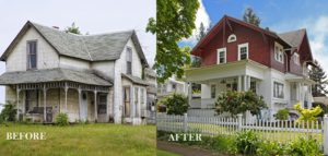 flipping old house to sell after redecoration